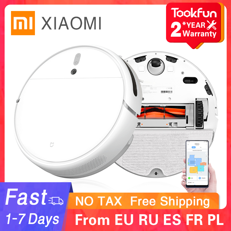 New XIAOMI MIJIA Sweeping Mopping Robot Vacuum Cleaner 1C for Home Auto Dust Sterilize 2500PA cyclone Suction Smart Planned WIFI 1