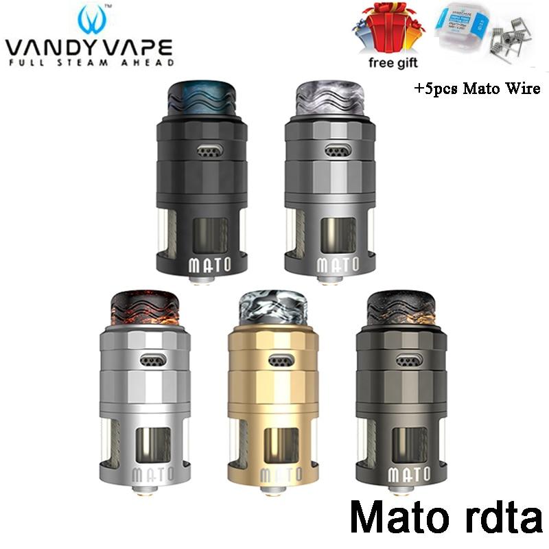 Original Vandy Vape MATO RDTA 5ML Tank 4 Steelwire Atomizer With Triple Fused Clapton Coil VandyVape DIY Tank For E-Cig Vape Mod