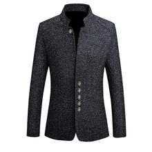 HEFLASHOR Blazers Men Hot Sale Autumn Chinese Style Casual Suits Large Size Male