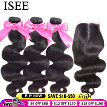 Tissage en lot brésilien avec Closure ISEE Hair