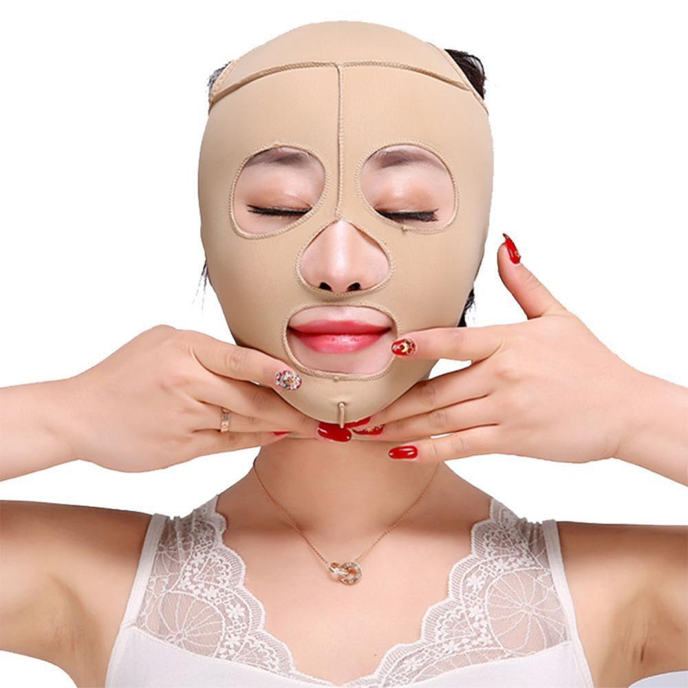 Breathable Comfortable Elastic Facial Beauty Tools Face Face Make V Skin Mask Thin Thinner 4 Small Slim Bandage Tone Size F Z7N1