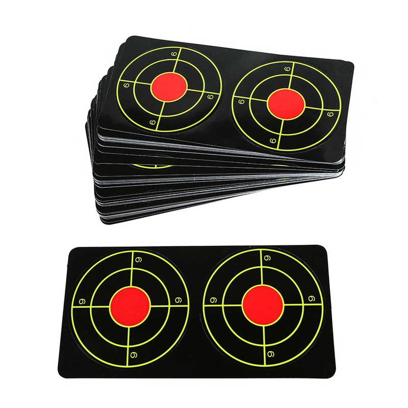 1 Set Fluorescent Target Sticker Paper Self Adhesive Target Slingshot Paintball Outdoor Shooting Training Accessory For Airsoft*