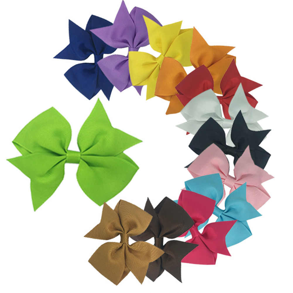 เด็กทารกเด็กวัยหัดเดิน Swallowtail Bows คลิป Grosgrain ริบบิ้นแถบคาดศีรษะทารก Headband Hairband ดอกไม้ Headdress