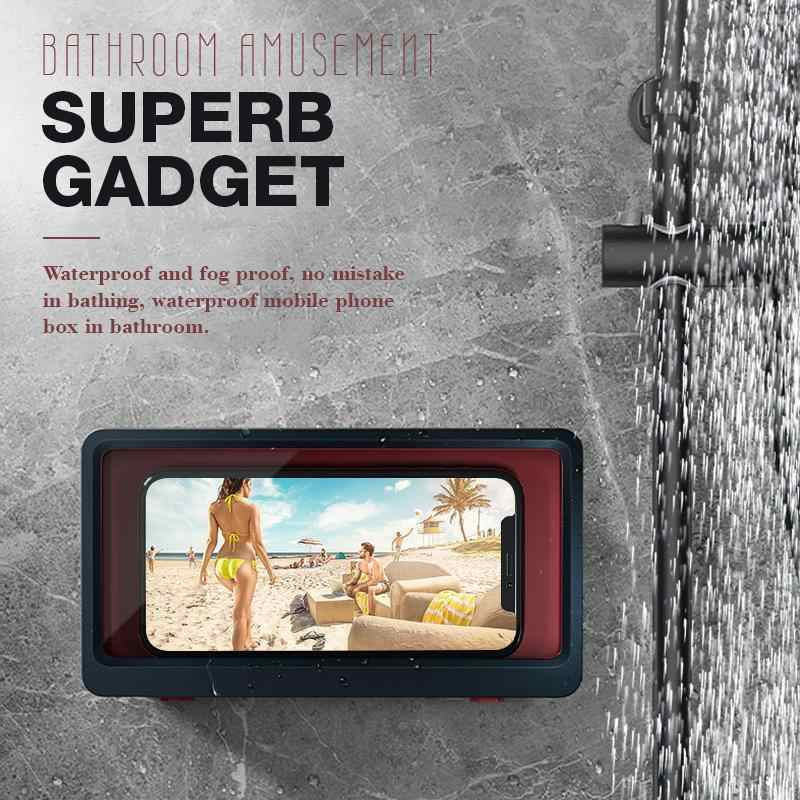 Badkamer Telefoon Plank Holderamusement Superb Gadget Douche Caddy Organizer Wall Mount Rack Geen Boren Opslag Accessoires