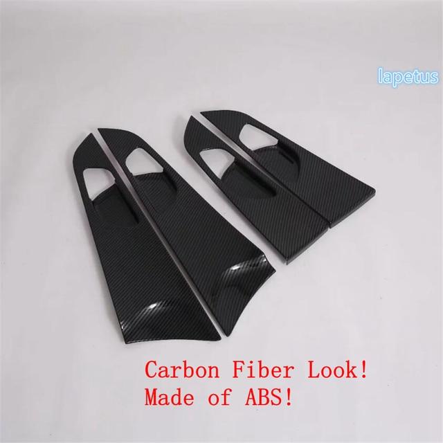 Lapetus Inner Door Pull Handle Bowl Decoration Panel Cover Trim Fit For Kia Forte / Cerato / K3 2019 2020 ABS Carbon Fiber Look 3