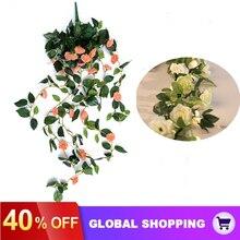 Vines Wedding Arrangement-Decoration Flowers Rose Artificial 100cm Garland Arch Hanging-Silk
