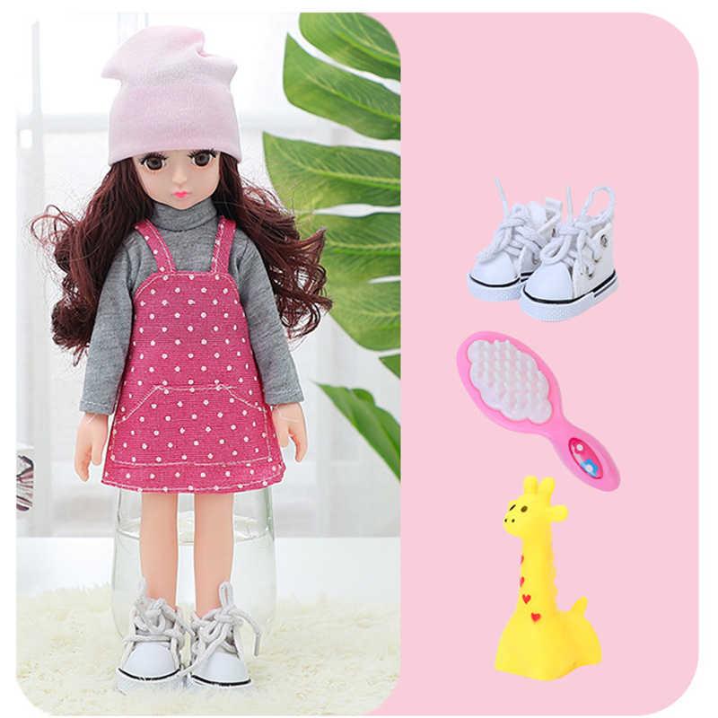 13 articulações móveis 1/6 3d olhos bjd boneca brinquedos com acessórios sapatos de roupas saco chapéu moda figura nake bonecas brinquedo para meninas presente