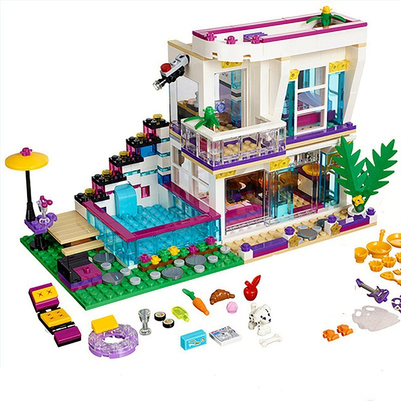 bela <font><b>10498</b></font> girl Friends Livi's Pop Star House 41135 Emma Mia Figure Educational Toy For Children Building Block toys image