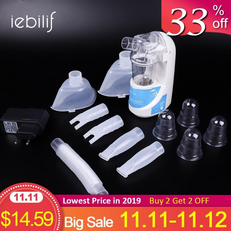 Home Ultrasonic Nebulizer Compact And Portable Inhalers Nebulizer Mist Discharge Asthma Inhaler Mini Automizer EU US Plug