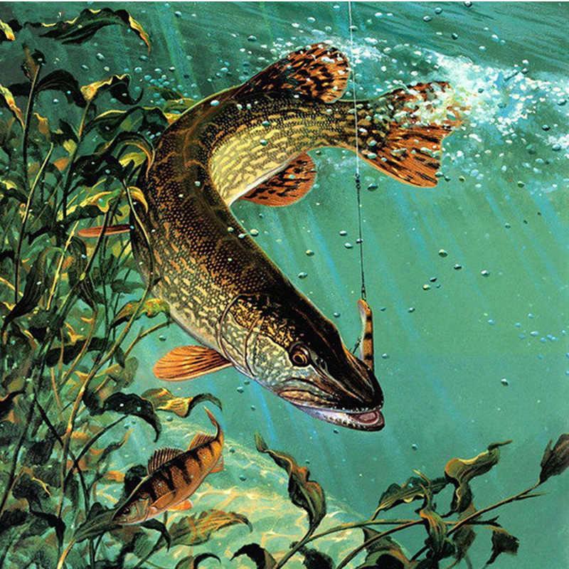 Pieno Quadrato/Rotondo Fai da Te Disegni E Schemi per Puntocroce Pesca Del Diamante Del Ricamo Paesaggio Mosaico di Strass Decorazione Della Casa M837