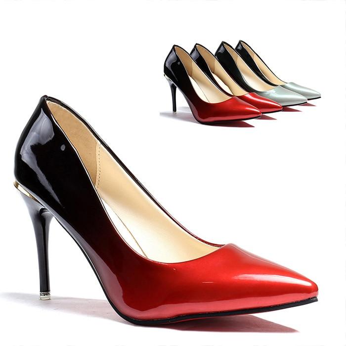 High Heels Women Pumps Sexy Nightclub Wedding casual shoes Pointed Toe Parties Dress Gradient Super Summer