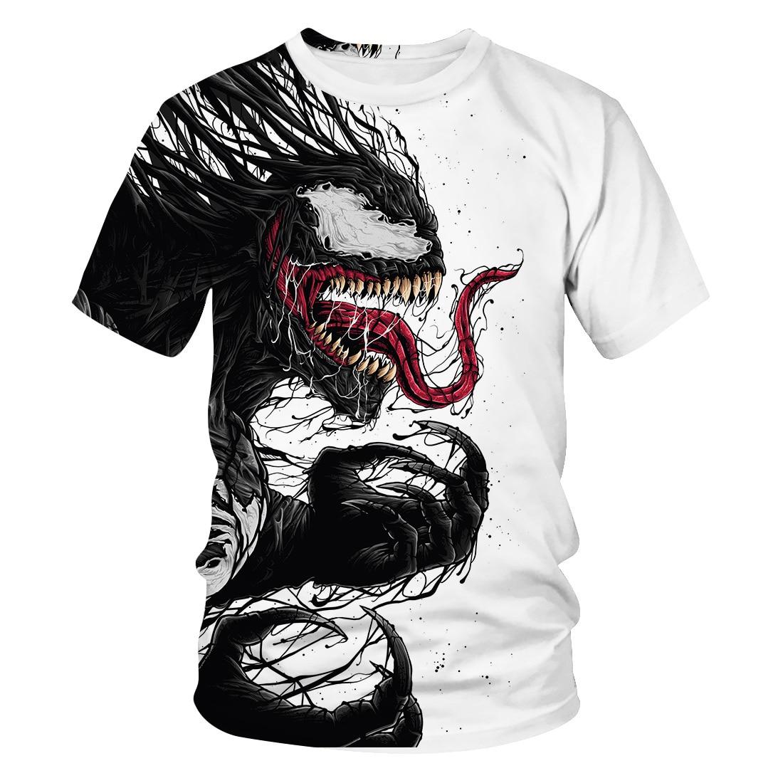 3 To 14 Years Kids T Shirt Movie Venom 3D Printed Tshirt T-shirt Boys Girls Short Sleeve Cartoon T Shirts Tops Children Clothes