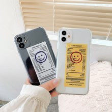 INS simple and stylish smiley face label barcode fun phone case for iPhone 11 pro MAX Xs MAX Xr X 7 8 plus soft TPU back cover(China)