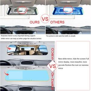 Image 3 - VIPI דאש מצלמת מראה רכב Dvr מראה כפולה דאש מצלמה כפולה מצלמות מראה Dashcam מלא HD Dashcamera במכונית וידאו מצלמה רכב Dvrs