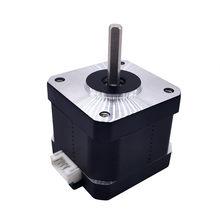Nema 17 motor deslizante 42 altura do motor 38mm para impressora 3d impressão 1.2a d em forma de eixo