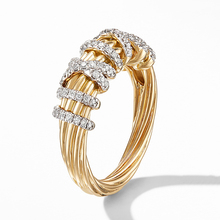 Luxury Punk Twist Gold  Rings For Women Wedding White Cubic Zirconia Jewelry Hip Pop Engagement Bridal Finger Ring Z3M507