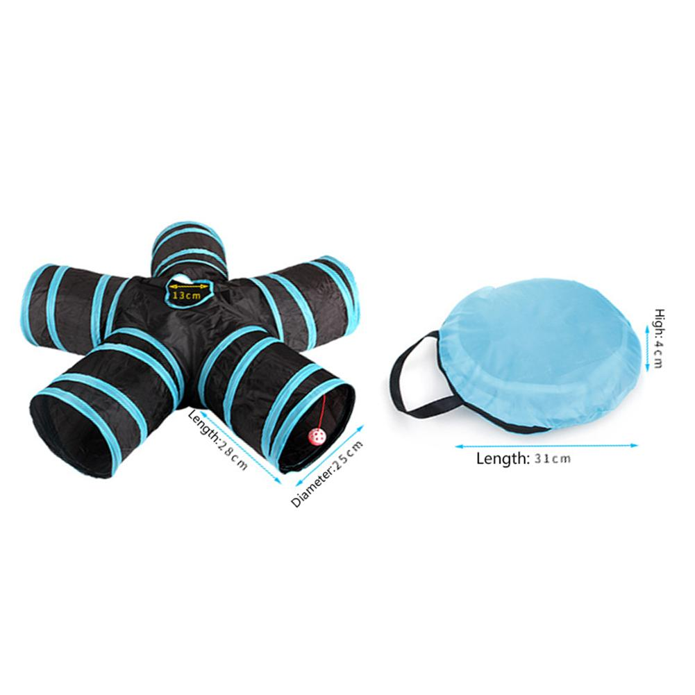 Foldable Pet Cat Tunnel Toy Collapsible 2 3 4 5 Holes S type Cat Tent Tunnel