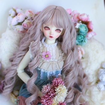 Bjd sd baby bangs high temperature fiber wig young girl with long curly hair 1/3 1/4 1/6 doll wig Doll accessories toys doll accessories 1 3 1 4 1 6 bjd wig doll hair lon straight girl wig multicolour available high wire faux fur wig fb12