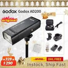GODOX AD200 TTL 2.4G HSS 1/8000s Flash Lumière Double Tête 200Ws avec 2900mAh Batterie Au Lithium avec AD-M Réflecteur Standard