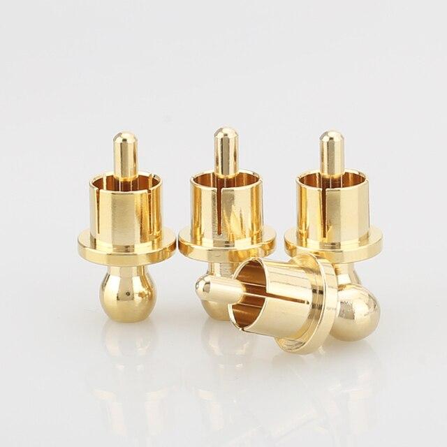 8 pièces plaqué or RCA bouchon prise court-Circuit connecteur Phono RCA blindage prise prise protéger les couvercles