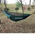 Нейлоновый гамак с москитной сеткой для взрослых  походный  открытый  парашютный  тканевый  для путешествий  выживания  охоты  сна  качели  кр...