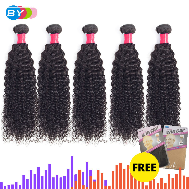 Kinky Curly Hair Brazilian Hair Weave Bundles 100% Remy Human Hair Extensions Natural Color 5Pcs/10Pcs  Free Shipping BY Hair-in Hair Weaves from Hair Extensions & Wigs