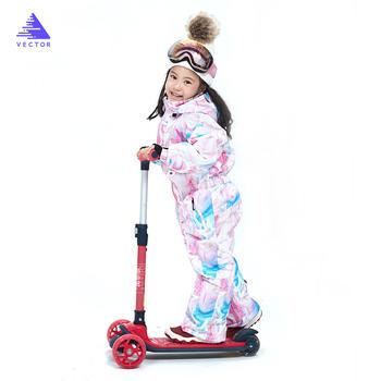 Kombinezon narciarski dla dzieci proste pełne kombinezony spodnie zimowe ciepłe wodoodporne chłopcy dziewczęta Outdoor narciarstwo snowboard narciarstwo zestaw dla dzieci tanie i dobre opinie VECTOR Dobrze pasuje do rozmiaru wybierz swój normalny rozmiar CN (pochodzenie) 70032 W stylu rysunkowym COTTON Men Women