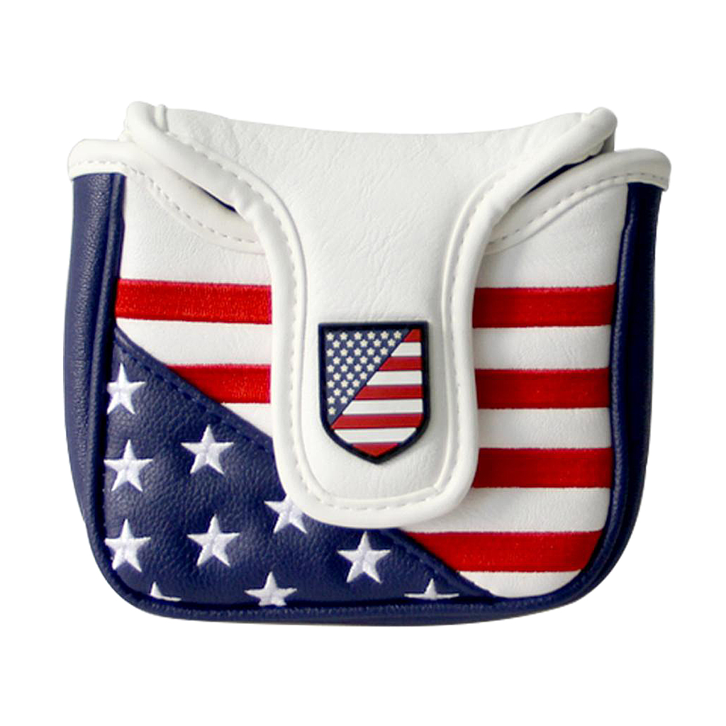 Mallet Putter Cover With Magnetic Closure Leather Headcover Club Protector - Replacement Putter Cover - Deluxe PU Leathe