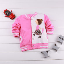 6M-3Years Spring Autumn Infant Little Baby Girls Cotton Red Coat Long Sleeve Jacket Coat Windbreaker(China)