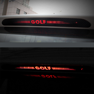 Carbon Fiber Stickers Decals High Mounted Stop Brake Lamp Light Car Styling For VW Volkswagen GOLF 6 7 MK6 MK7 POLO Tiguan R(China)
