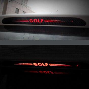 цена на Carbon Fiber Stickers Decals High Mounted Stop Brake Lamp Light Car Styling For VW Volkswagen GOLF 6 7 MK6 MK7 POLO Tiguan R