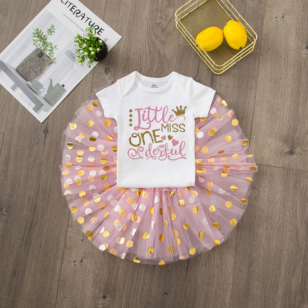ONEderful Birthday Pink Gold Outfit 1st Birthday Party Girls Outfits Cake Smash Tutu+baby Bodysuits Summer Set Fashion Wear 22