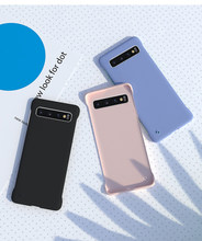 Color sin marco mate plástico duro PC Scrub funda para Samsung Galaxy S10 S10e Plus A10 A20 A30 A50 A60 a70 M10 M20 Coque(China)
