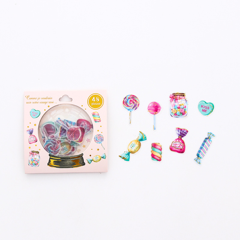 Lollipop Candy Crystal Stickers Cute DIY Diary Album Scrapbooking Label Decorative Sticker Stationery Gift School Supplies