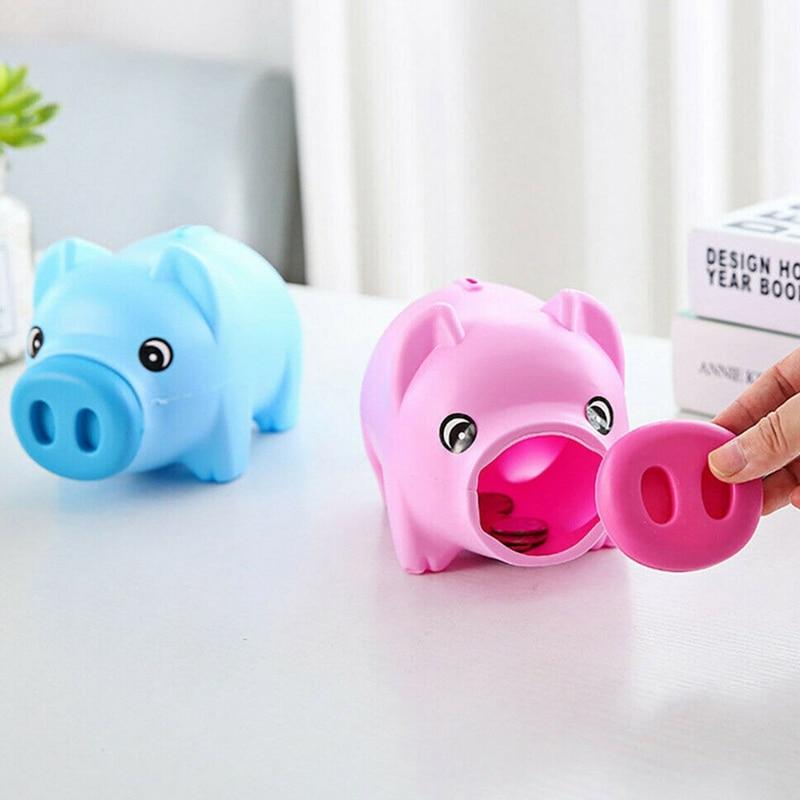 Cartoon Cute Pig Coin Crash Coin Box Gift Children Save Money Money Saving Box Case Coins Kawaii Cartoon Pig Shaped Piggy Bank