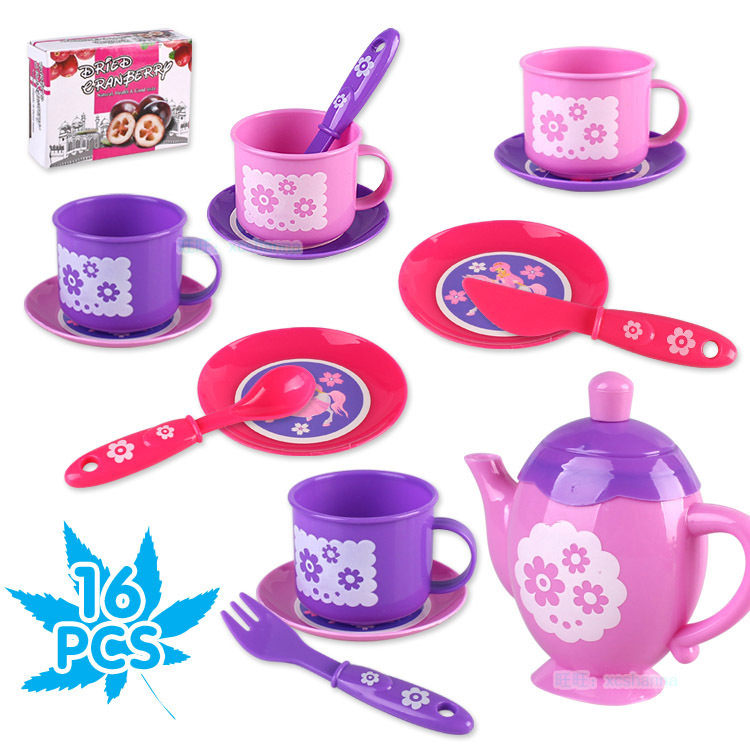 New Opp Tea Show Tea Set Toys Children Play House Set 16 Sets Of Simulation Teapot Tea Cup Educational Toys