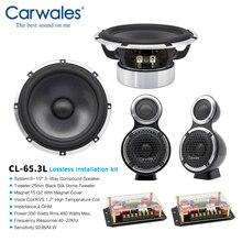 """Installazione Lossless 6.5 """"3 way Car Sistema Audio 3.5"""" Midrange Alti Pieno di Frequenza Componente Altoparlanti Kit Subwoofer per Auto"""