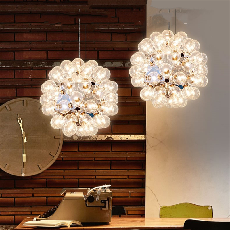 Nordic Taraxacum bubbles <font><b>Pendant</b></font> <font><b>Lights</b></font> Glass Mirror Ball Kitchen Hanging Lamp Modern Living Dining room <font><b>bar</b></font> decor <font><b>Light</b></font> Fixture image