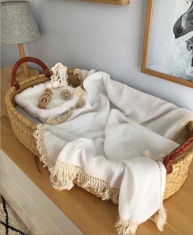 Manta envolvente para recién nacido de 6 capas, manta receptora de algodón para bebé, colcha caliente para dormir infantil, manta de muselina para bebé