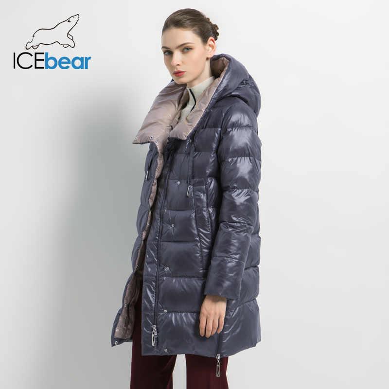 ICEbear 2019 yeni kış kadın ceketi yüksek kaliteli kadın ceket moda sıcak kadın mont marka kadın giyim GWD19503I