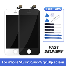 AAA+++LCD Display for iPhone 8 Plus 6 7 8 6S Plus With 3D Touch iphone Screen Replacement for iPhone 5 5C Tempered Glass+Tools
