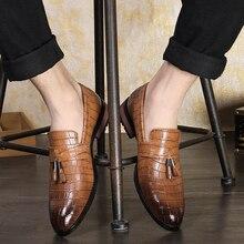 지적 발가락 공식적인 신발 남자 Pu 가죽 Oxfords 봄 남자 이탈리아 드레스 신발 비즈니스 웨딩 신발 남성 대형 38 47