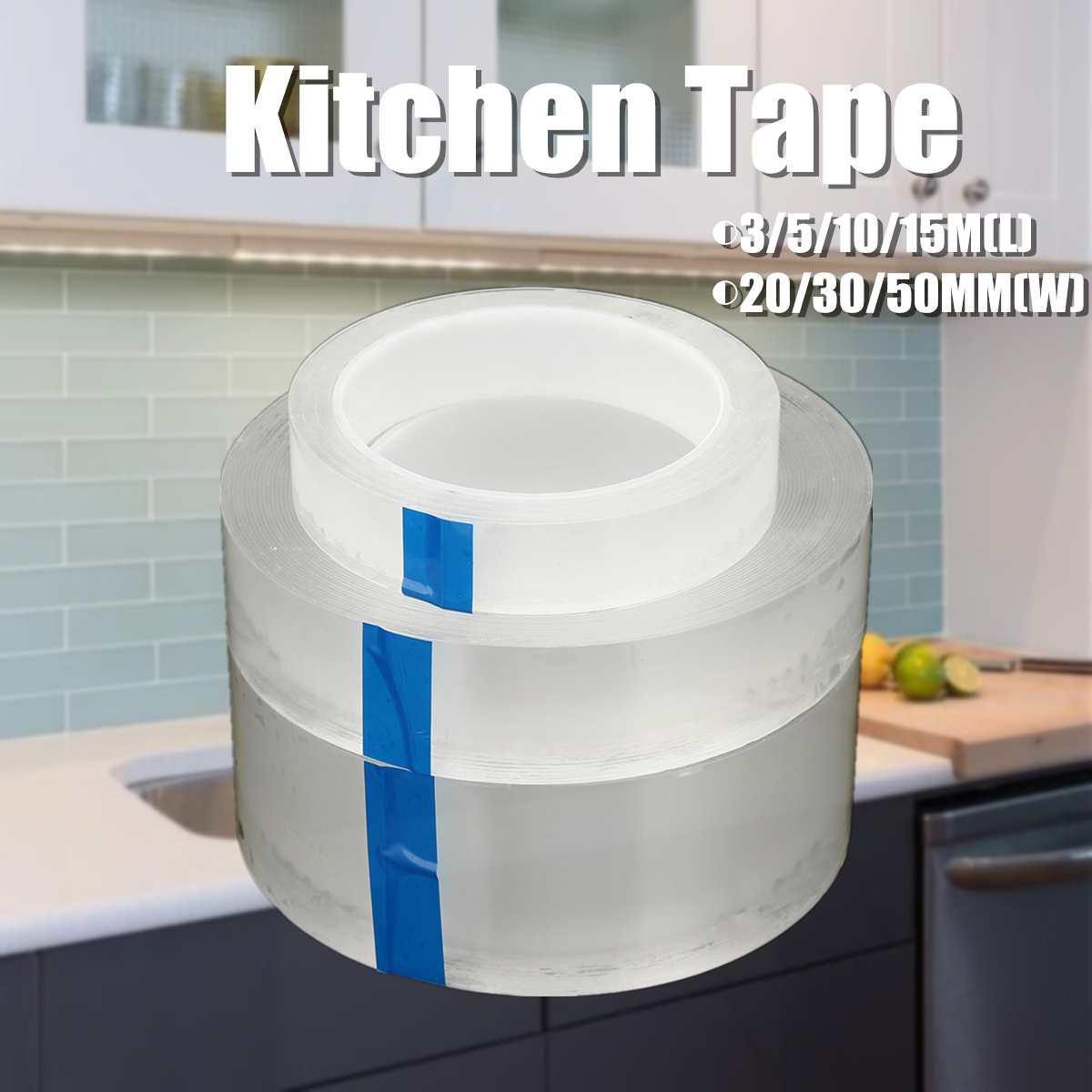 Waterproof Self Adhesive Kitchen Tape Bathroom Wall Sealing Tape Mildew Proof Toilet Wall Corner Line Sink Sealing Stickers