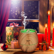 Portable 3MHz Ultrasonic Humidifier 120ml Aroma Essential Oil Diffuser Hallow Wood 7 Color Light Aroma Lamp For Home Office набор aroma home