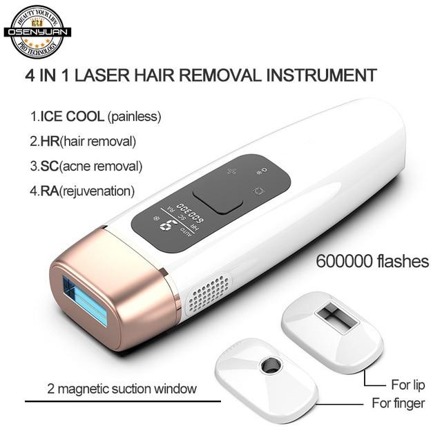 Osenyuan IPL Laser Epilator Hair Removal Icecool Permanent Home Bikini Trimmer Electric Depilador A Laser For Women