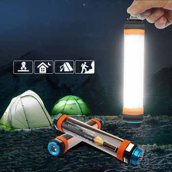 Multi-Function LED Camping Lantern With Magnet Tent Light IP68 USB Charging Outdoor Emergency Power Light 6 Modes Flashlight - Category 🛒 Lights & Lighting