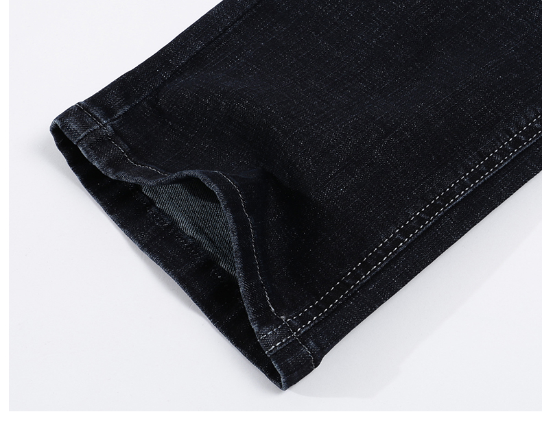 KSTUN Jeans for Men Famous Brand Black Jeans Winter Stretch Business Casual Male Straight Classic Trousers High Quality Big Size 18