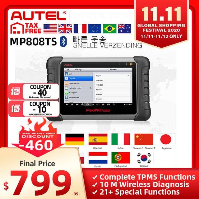 Autel MaxiPRO MP808TS Diagnose Werkzeug als MS906 und TS601 PK MK808 AP200 MK808TS Umfassende TPMS Programmierung Schnelle Versand