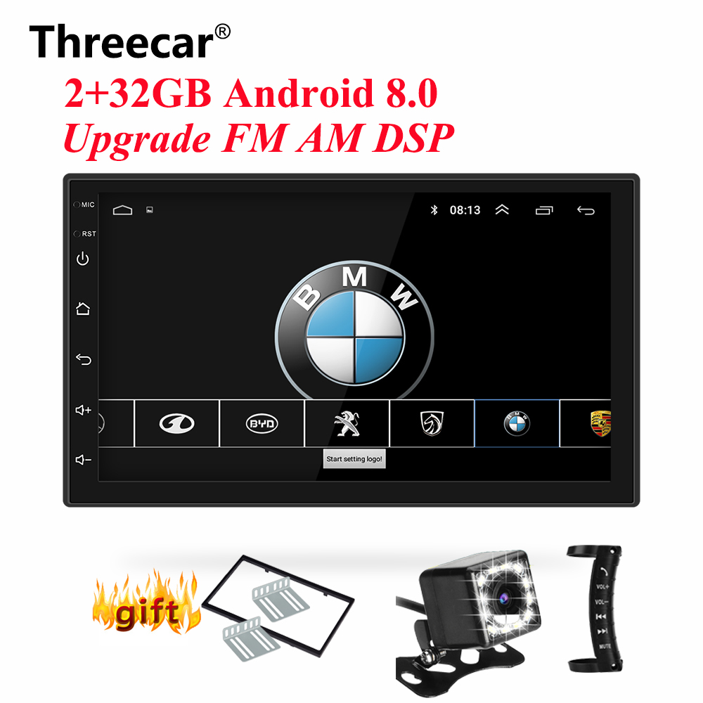 2GB + 32GB Android 8.0 GPS Navigation Wifi Bluetooth obd 2 din android autoradio universel Double 2Din 7 ''Audio stéréo lecteur MP5