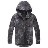 Black Python Military Tactical Sport Men's Full Zip Polar Fleece Fishing Jacket For Men && Women